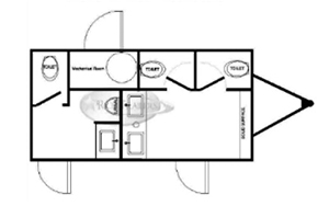 4 Station Luxury Trailer Floorplan